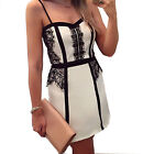 New Fashion Women Lady Girl Sexy Summer Cocktail Evening Party Lace Mini Dress