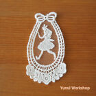 Alice Run Embroidery Cotton Lace Applique White Deco Mori Girl Tear Drop DIY