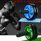 Exercise Dual ABS Abdominal Roller Wheel Workout Exerciser Fitness Gym Roller US