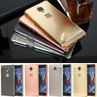 Aluminum Metal Bumper Brushed Push-Pull PC Back Cover Case For Oneplus 3 Three
