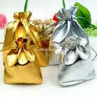 7x9cm 9x12cm Gold Silver Organza Bag Wedding Favour Party Gift Drawstring Pouch