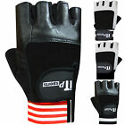 Weight Lifting Gloves Leather Gym Exercise Body Building Padded Gloves Straps