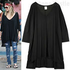 AnnaKastle New Womens Ladies Oversized Silky Cape Long Tee T shirt size M - L