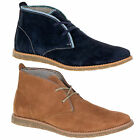 MEN'S SUEDE LEATHER LACE FASTENING ANKLE BOOTS HUSH PUPPIES ROLAND JESTER