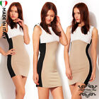 donna vestiti Womens Celeb Optical Slimming abiti Kleid Pencil Party Dress B002