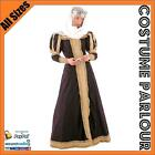 Womens Medieval Queen Maid Marion Game Of Thrones Fancy Dress Costume All Sizes
