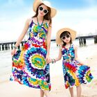 Summer girls women dress Family dresses Bohemia Fashion colorful cotton dress