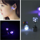 NEW 1 Pair Women Men Fashion Jewelry Light Up Crown Crystal Drop LED Earring