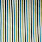 Ashley Wilde Small Striped Fabric 140cm Wide, Teal & Lime Curtains Cushions
