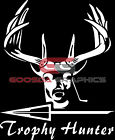 Deer Trophy Hunter with Arrow-Premium Quality Vinyl Decal-Made In The USA!