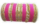 Indian Traditional Bollywood Pink Color Bridal Wedding Bangles Fashion Jewelry