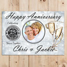 Personalised Silver 25th Wedding Anniversary PHOTO Poster Party Banner N67