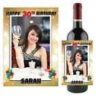 Personalised Happy 18th 21st 30th 40th Birthday Wine Champagne Bottle Label N87