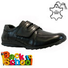 NEW BOYS KIDS LEATHER INFANT CASUAL BLACK SCHOOL TRAINERS SHOES SIZE