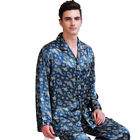 Mens Silk Satin Pajamas Pyjamas Set Sleepwear XS~4XL Plus Size_Fits All Seasons