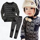 "Vaenait Baby Toddler Kids Boy Clothes Sleepwear Pajama Set ""Scandi Black"" 12M-7T"