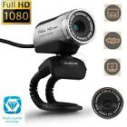 AUSDOM 1080P Full HD 12MP Webcam Computer PC Web Video Camera with MIC for Skype