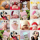 Sweet Baby Infant Newborn Knit Costume Photography Prop Crochet Hat Cap Outfits