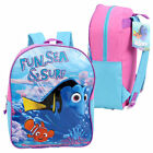 "Backpack 15"" Disney Finding Dory Nemo Ocean Buddies & Fun Sea Surf Girl NEW"
