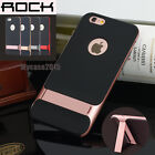 Slim Fit Shockproof Hybrid Stand Hard Bumper Soft Case For iPhone 6 6s & Plus
