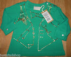 Diesel baby boy girl t-shirt  top size 0-3 m BNWT designer green  gold print