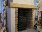 Solid Oak Beam Floating Shelf Wooden Mantel Piece Fireplace Surround - Shaped