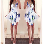 Sexy Women's Casual Summer Sleeveless Party Evening Cocktail Floral Mini Dress