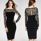 Sexy Women Lace Off Shoulder Ladies Pencil Dress Evening Formal Party Cocktail