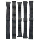 2-Part Slim Matt Black Stainless Steel Watch Bracelet 18mm Choice of Design