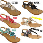 Womens Ladies Summer Party Buckle Gladiator Tassel Fringed Glittery Sandals Shoe