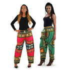 New Dashiki Pants African Print Comfortable Boho Hippy Trousers Pocket US Stock