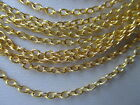 """Uk Jewellery Gold Plated 24"""" 18"""" Trace Link Necklace Pendant Locket Chains"""