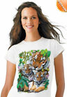 BY THE SHADY POOL-TIGER Solar T-Shirt Top Quality Pre Shrunk Tee
