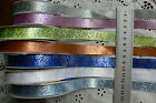 Rococo Scrolled Pattern Satin Ribbon 16mm Wide 2 metres 7 Colours MultiList H5B