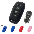 5 BUTTON FIT FOR FORD FUSION MONDEO MUSTANG F150 SILICONE CAR KEY FOB CASE COVER