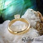 Pave Diamond Engagement Ring 1.63 TCW SI G-H 14k Yellow Gold Size 8 Enhanced