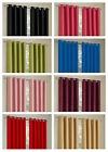 THERMAL BLACKOUT READY MADE PLAIN RING TOP CURTAIN PAIR 7 SIZES + 8 COLOURS