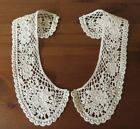 Pretty cream / natural 100% cotton guipure lace collars, vintage style.