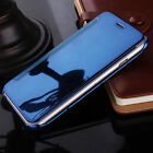 Luxury Flip Leather Case Cover Smart S View Mirror Clear for iPhone 6 / 6S Plus