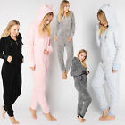 Jumpsuit Teddy Fleece Overall Ganzkörperanzug Ohren Damen Eight2Nine
