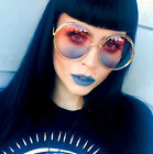 Oversized Round Roxanne Bohemian Coachella Double Wire Halo Sunglasses