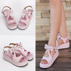 Sweet Lolita Bow Rosa Pink Schuhe Shoes sandals Sandalen Cosplay Kostüm Princess