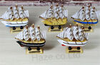 """Crafts Wooden Sailboat Living Room Home Ornaments Kids Toy 4"""""""