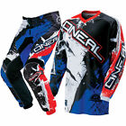 NEW 2017 ONEAL ELEMENT SHOCKER  PANT AND JERSEY COMBO MOTOCROSS - BLK/BLU/RED