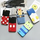 3D Cute Cartoon PU Leather Phone Case Back Cover Skin For iPhone 6 6S 6s Plus