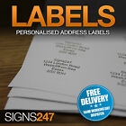 PRINTED LABELS Self Adhesive Stickers Return Address Labels PERSONALISED LABELS