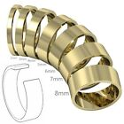 9ct Solid Real Yellow Gold Flat Shaped Ladies Gents Plain Wedding Band Ring
