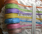 Solid Woven Check Ribbon Assorted 7 Colours 10mm wide 3 Metres Ea May Arts Hall