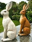 Large Rustic Brown & Cream Hare Sculpture Ornament Figurines New & Boxed