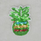 Colored sequins pineapple  Embroidery Iron/sew on patch applique badge Motif